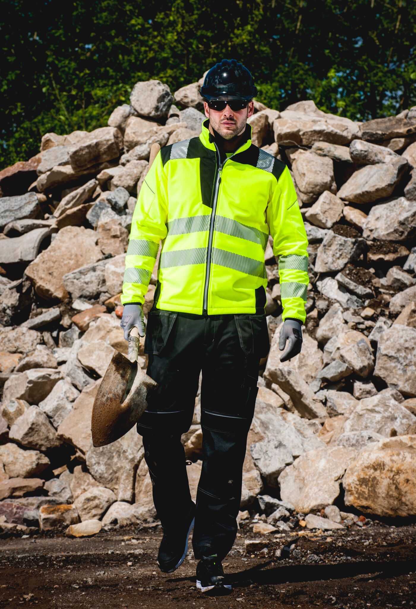 Mens Waterproof Rain Snow Hi Vis Safety Reflective Jackets Work