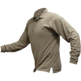 VTX MENS COLDBLACK POLO LONG SLEEVE TAN